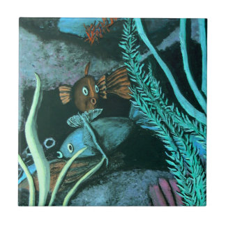 Tropical Fish Coral Reef Tile