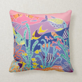 Tropical fish cushion by artist Joanne Short
