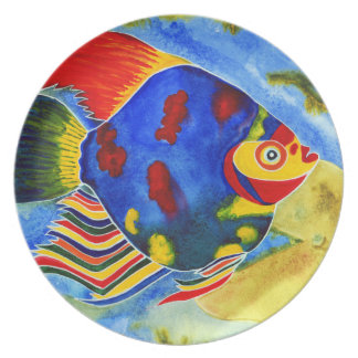 Tropical Fish design dinner/decorative plate