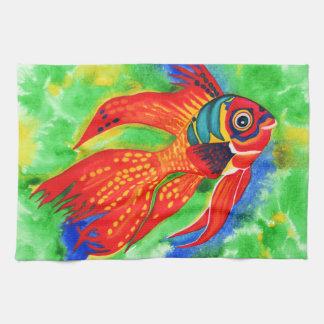 Tropical Fish design kitchen/hand towel