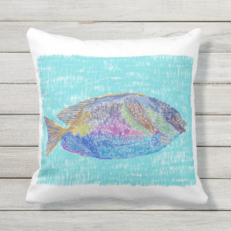 Tropical fish design pillow