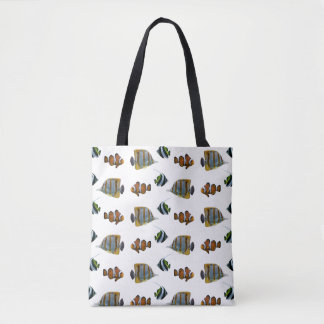 Tropical Fish Frenzy All Over Print Bag