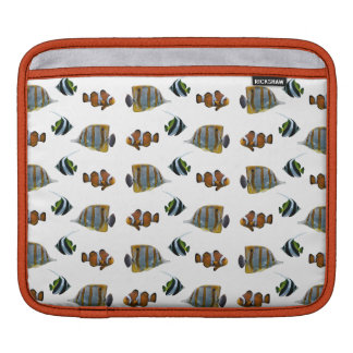 Tropical Fish Frenzy iPad Sleeve (choose colour)