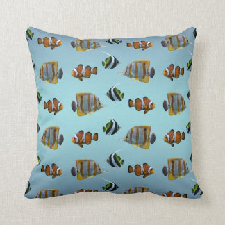 Tropical Fish Frenzy Pillow (Sky Blue Mix)