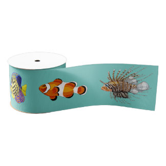 Tropical Fish Grosgrain Ribbon