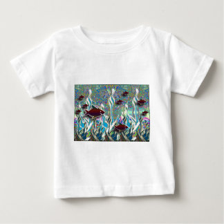 Tropical Fish in a Fantasy Garden Baby T-Shirt