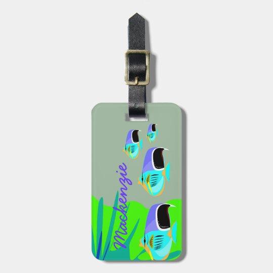 Tropical Fish Luggage Tag