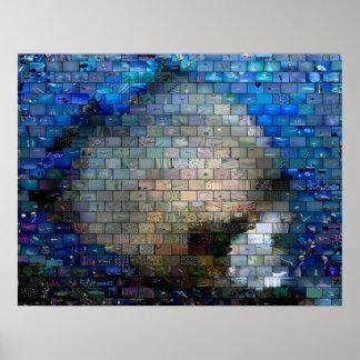 Tropical Fish Mosaic Poster