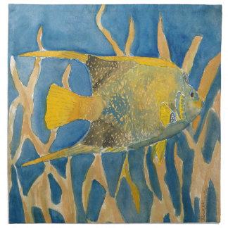 tropical fish napkin