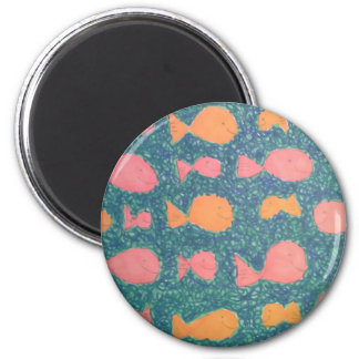 Tropical Fish Painted Pattern Magnet