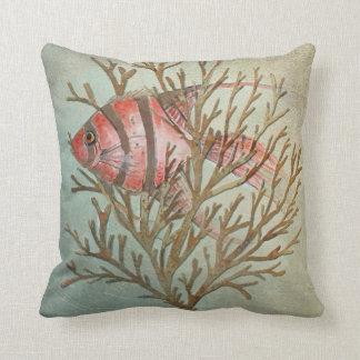 tropical fish pillow, Copyright Karen J Williams Throw Pillow