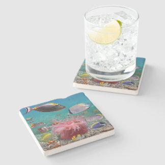 Tropical Fish Stone Coaster