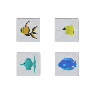 Tropical Fish Stone Magnets