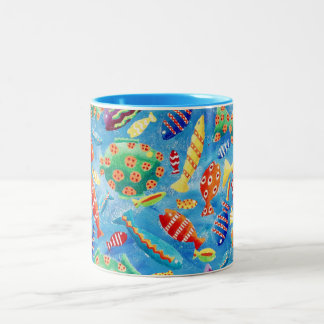 Tropical Fish Two-Tone Coffee Mug