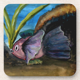 Tropical Fish Watercolor Coaster