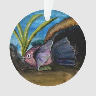 Tropical Fish Watercolor Florida Christmas Ornament