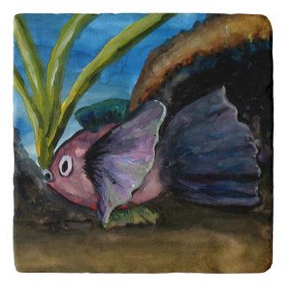Tropical Fish Watercolor Trivet