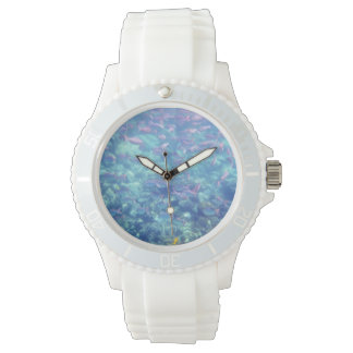 Tropical Fish White Sporty Watch