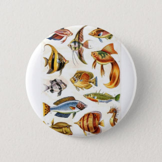 Tropical Fishes 2 Inch Round Button