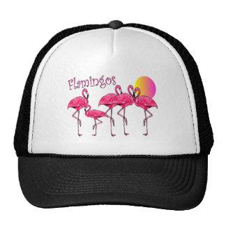 Tropical Flamingo Art Gifts Mesh Hats