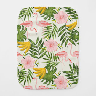 Tropical Flamingo Burp Cloth