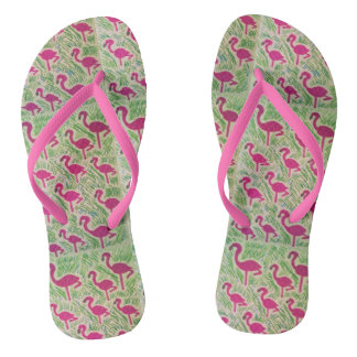 Tropical Flamingo Flip-Flops Flip Flops