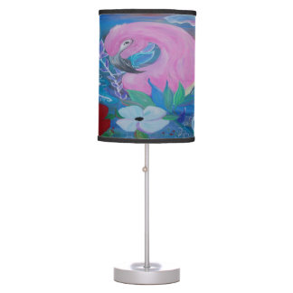 Tropical flamingo garden accent lamp