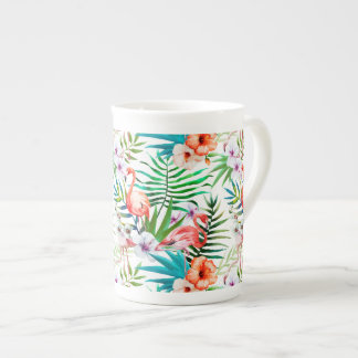 Tropical Flamingo Hibiscus Mug