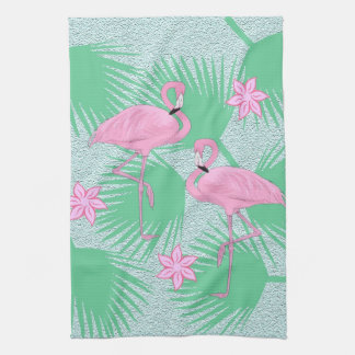 tropical flamingo kitchen towel