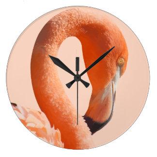 Tropical Flamingo Wall Decor Clocks