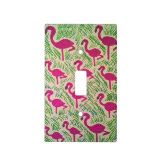 Tropical Flamingos Light Switch Cover