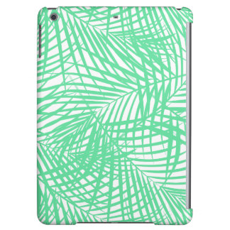 Tropical flat green leaves cover for iPad air