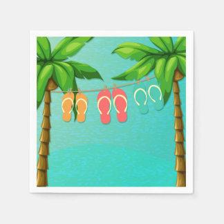 Tropical Flip Flops Paper Napkins