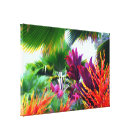 Tropical Flora Fantasy Wrapped Canvas