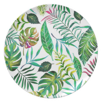 Tropical Flora Plate