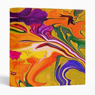 tropical floral art notebook binder