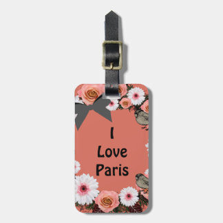 Tropical Floral Beach Vacation Baggage Quotes Luggage Tag