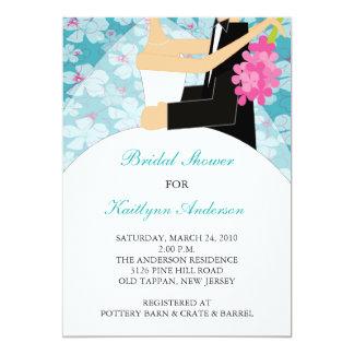Tropical Floral Bride Bridal Shower Invitation