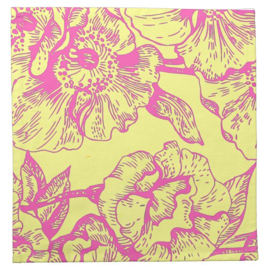 Tropical Floral Cloth Napkins