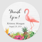 Tropical Floral Flamingo Bridal Shower Favour Tag