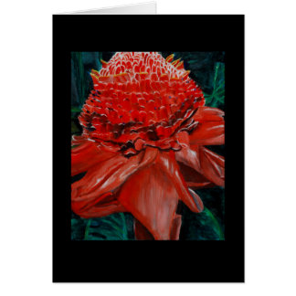 Tropical floral greeting card, blank card