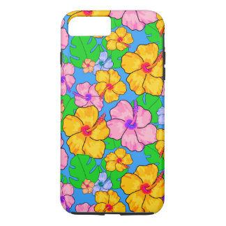 Tropical floral hibiscus iPhone case