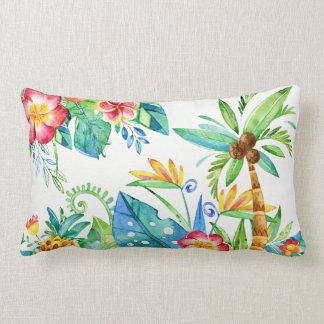 Tropical Floral Lumbar Pillow