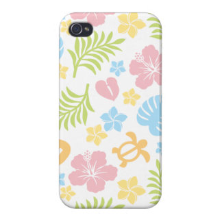 Tropical Floral Pattern 2 iPhone 4/4S Case