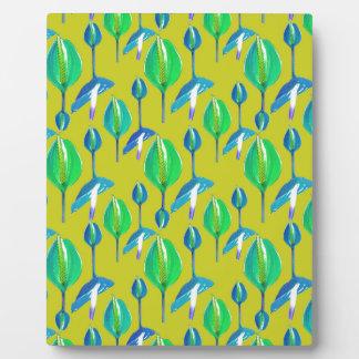 Tropical Floral Pattern Plaque