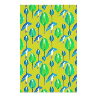 Tropical Floral Pattern Stationery