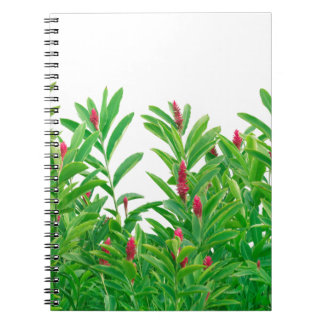 Tropical Floral Print Notebook