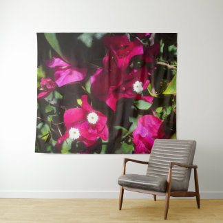 Tropical Floral Print, Retro Mood Tapestry