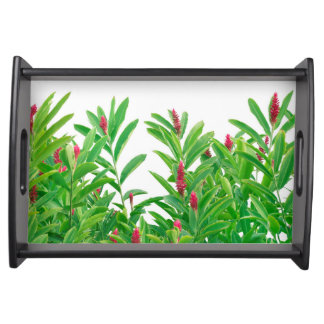 Tropical Floral Print Serving Tray