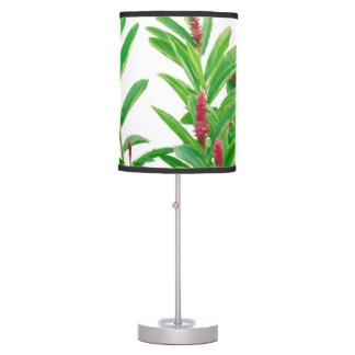 Tropical Floral Print Table Lamp